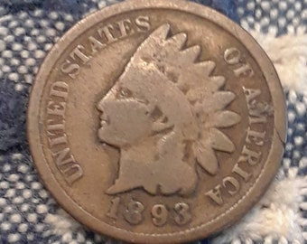1893 Indian Head Penny
