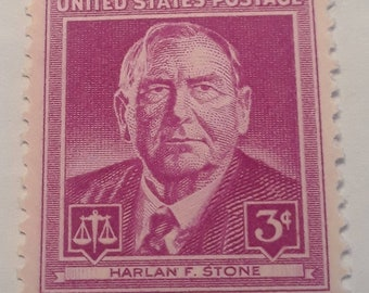1948 Harlan F. Stone Stamp 3 cents
