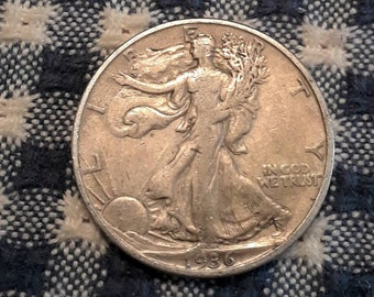 Depression Era 1936-D Walking Liberty Siver Half Dollar