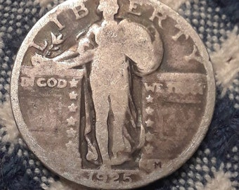 1925 Standing Liberty  90% Silver US Quarter Rolling Twenties
