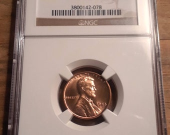 1954 D Lincoln Wheat Cent NGC Graded MS66 RD