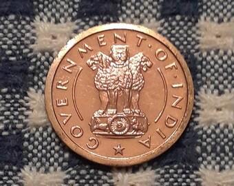 Proof 1954 B India Republic Pice KM#1.4