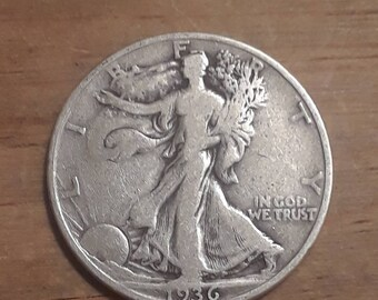 Depression Era 1936 D Walking Liberty Siver Half Dollar  90 percent SILVER