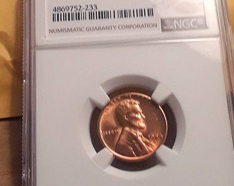 1954 S MS66 RED Graded by NGC Lincoln Wheat Penny NGC # 4869752-233 cheer red the picture does not do it justice