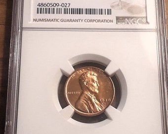 1938 S MS66 RED Graded by NGC Lincoln Wheat Penny NGC # 4860509-027