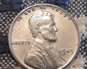 1943 War World II Steel Lincoln Wheat Penny  Uncirculated