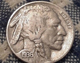 1936 Buffalo Nickel (VF)
