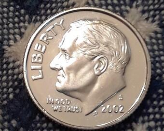 2002 S  Silver PR DCAM Roosevelt Dimes 90% Silver