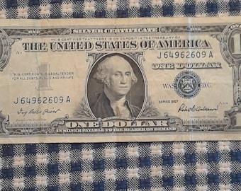 1957 0ne dollar silver certificate Very Nice Block (UA)