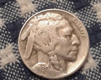 1930 Buffalo Nickel  Depression Era