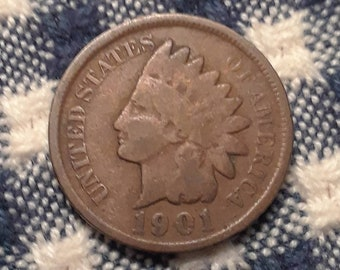 1901 Indian Head Penny (VG)