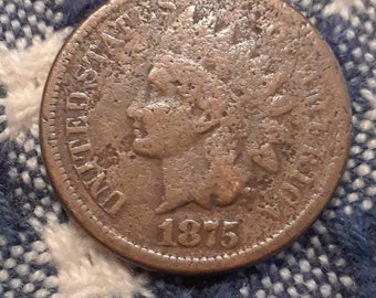 1875 Indian Head Penny (G)