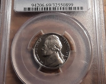 1973 S Proof 69 DCAM Graded by PCGS Jefferson Nickle
