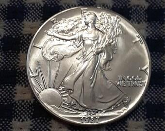 1987 Silver American Eagle Coin .9999 Silver