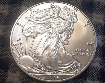 2016 Silver American Eagle Coin .9999 Silver