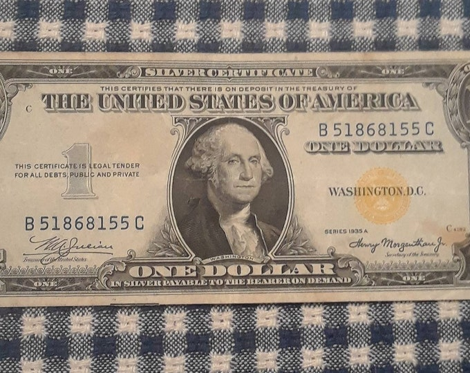 Featured listing image: 1935-A North Africa WW2 Emergency Issue Silver Certificate Yellow Seal