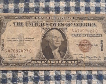 1935-A WW2 Hawaii Emergency Issue Silver Certificate Brown Seal