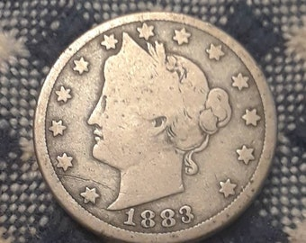 1883 Liberty V Nickle  WITH Cents  Very Good Grade