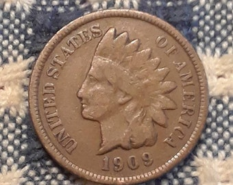 1909 Indian Head Penny Last year of issue! High Redbook Value.