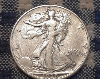 Depression Era BU 1936 Walking Liberty Siver Half Dollar