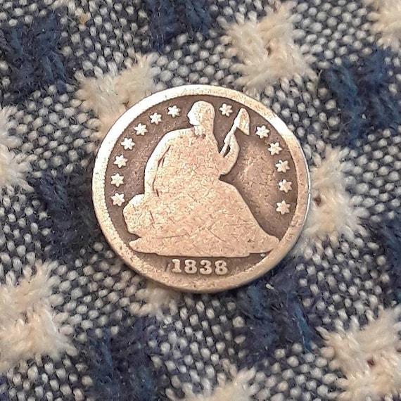 1838 Sitting Liberty Half Dime  (AG4 Obverse AG3 Reverse)