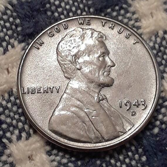 1943 D War World II Steel Lincoln Wheat Penny  Uncirculated