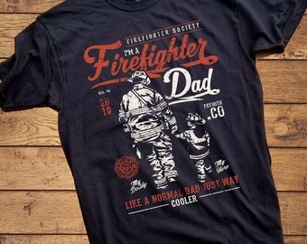 4cfd7ad4 Firefighter Dad Shirt - Vintage Adult Firefighter Shirt design - Adult  Fireman Shirt - The best dads are Firefighters Shirt - fireman shirt