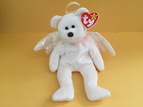 TY Beanie Baby.   HALO   The Angel Bear.  d416272b15a