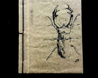 Costum Handmade Notebook, Recycled material, Write your name