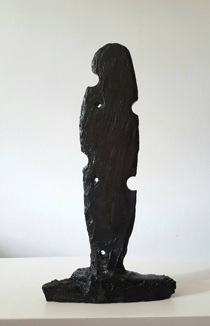 Slate stone sculpture