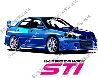 Subaru WRX STI Impreza svg,png,dxf clipart for Print/Design