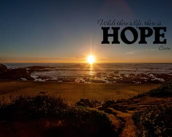Hope - Wall Hanging on Canvas