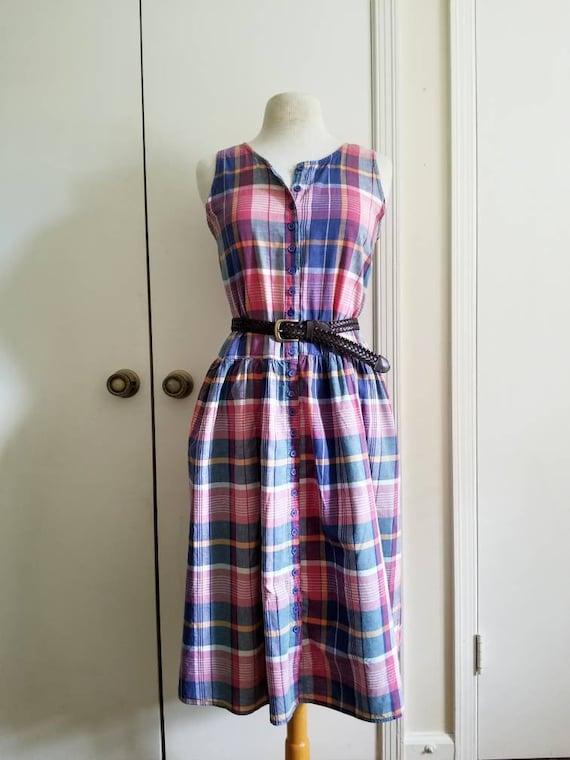 Vintage Women's Plaid Dress