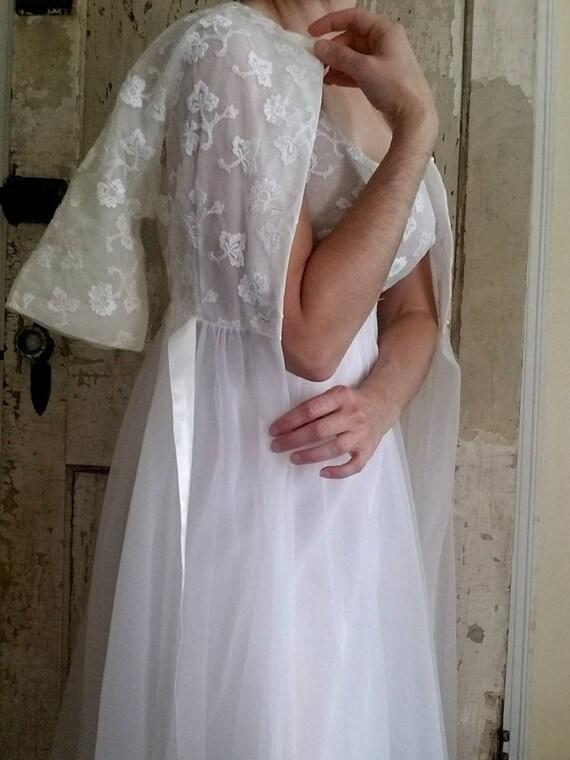 Vintage Bridal Lingerie Set / Shadowline / 32 / Bo