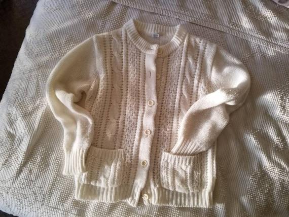 Vintage Knit Cardigan / Vintage Cardigan Sweater /