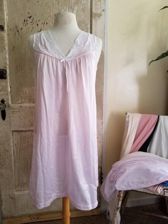 Vintage Pink Nightgown / Lady Manhattan Nightgown