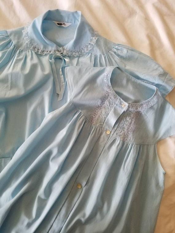 Vintage Blue Pajama Set / Basila / Pastel / Pale B