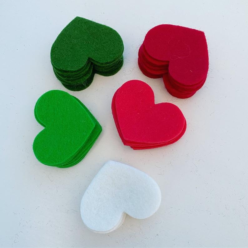 50 CHRISTMAS pre-cut hearts