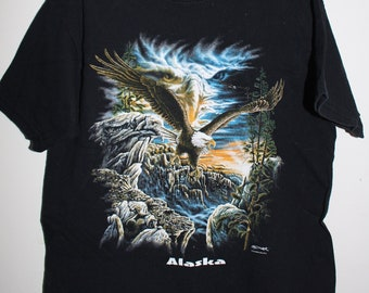 36d9ce2e3a0a Kids RETRO VINTAGE TRENDY Eagle Tee Size Youth Small
