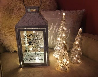 personalized christmas lantern