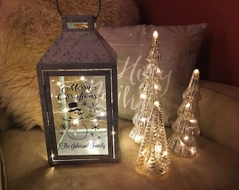 personalized christmas lantern - How To Decorate A Lantern For Christmas