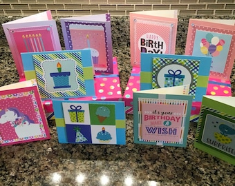 Birthday Cards - 10 assorted styles