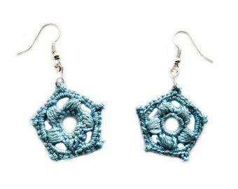"""Crochet earrings """"Ice Flowers"""""""