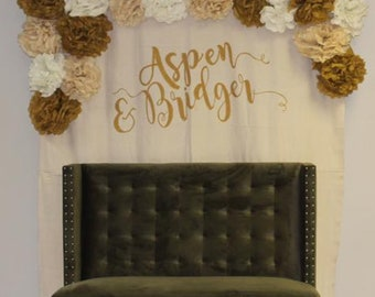 Large 9x12 hanging canvas Persoanlizes with NAMES or your choice of words