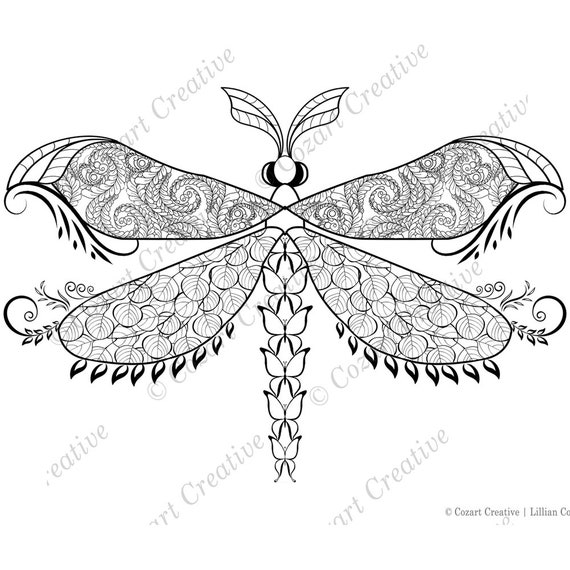 dragonfly coloring pages.html