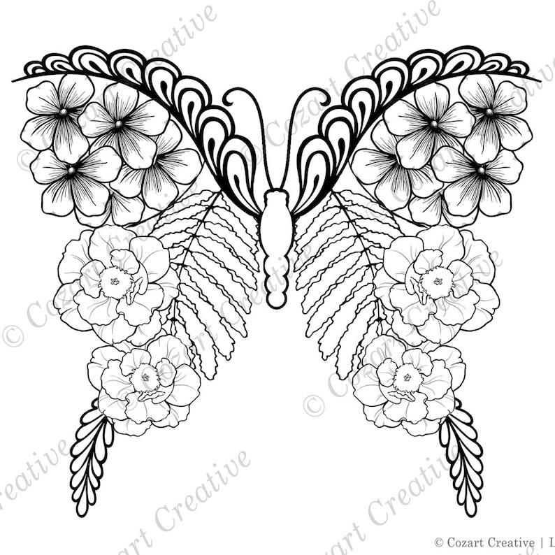Beautiful Drawings Of Butterflies On Flowers