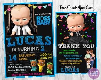 Boss Baby Invitation Birthday Party Invites Printables Printable