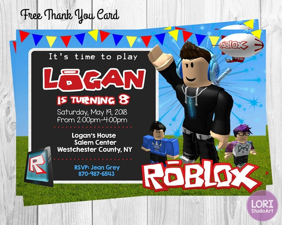 Roblox Game Invitation Birthday