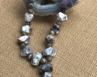 Dendritic Agate and Labradorite Necklace