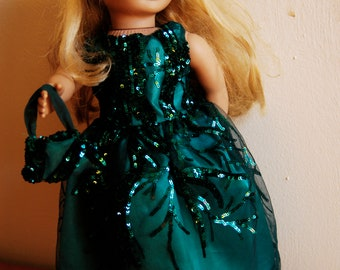 Green Sequin 18inch Doll Dress